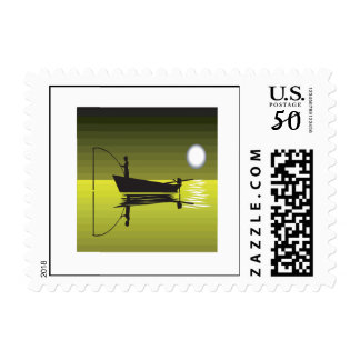 Night Fishing Postage