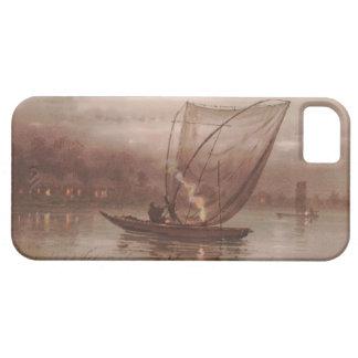 Night Fishing Yokouchi Tasuke japanese waterscape iPhone SE/5/5s Case