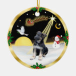 Night Flight-  German Shepherd puppy Christmas Ornament