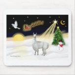 Night Flight - Llama 12 Mouse Pad