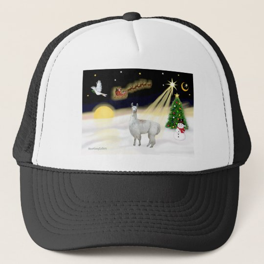 Night Flight - Llama 12 Trucker Hat