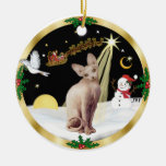Night Flight - Sphynx 2b Christmas Ornaments