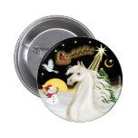 Night Flight - White Arabian Horse Pin
