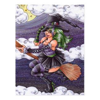 Night Flight Witch Postcard