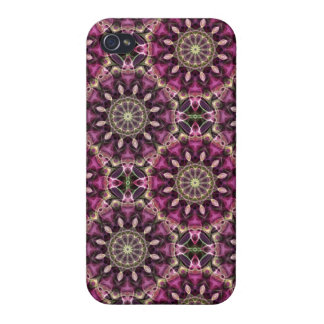 Night Flower Pattern iPhone 4 Covers