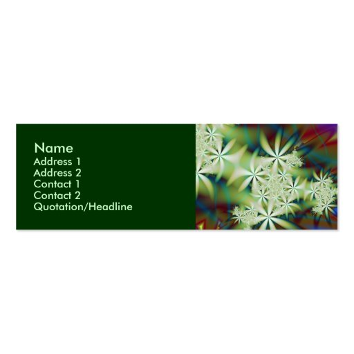 Night Flowers 2 Double-Sided Mini Business Cards (Pack Of 20)