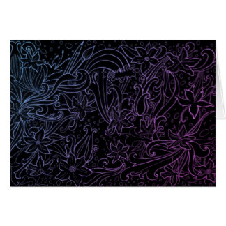 Night flowers card