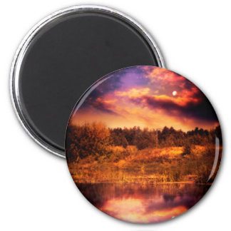Night Forest and River 3 Magnet