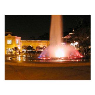 Night Fountains Balboa Park Postcard