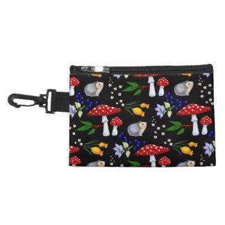 Night Garden Hedgehog Clip-on Accessory Bag