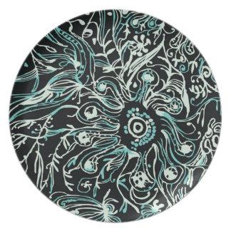 Night Garden Melamine Plate