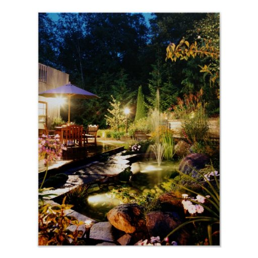 Night-garden, on canvis poster