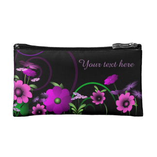 Night Garden Personalized Cosmetic Bag