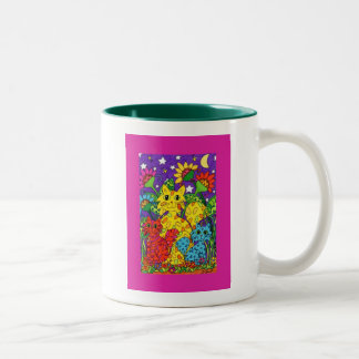 Night Garden Two-Tone Coffee Mug