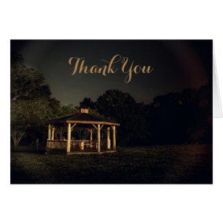 Night Gazebo  Thank You Card