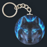 "Night Ghost Wolf Keychain<br><div class=""desc"">Indians believe in the Ghost Wolf is a &quot;Keeper Of The Woods&quot; and they worship this animal as a GOD!</div>"