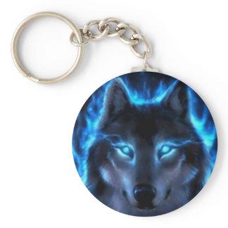 Night Ghost Wolf Keychain