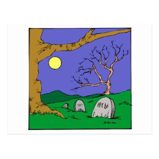 Night Graveyard Postcard