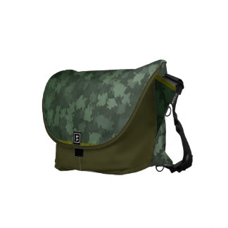 Night Green Leaf Camo Commuter Bags