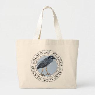 Night Heron Galapagos Islands Large Tote Bag