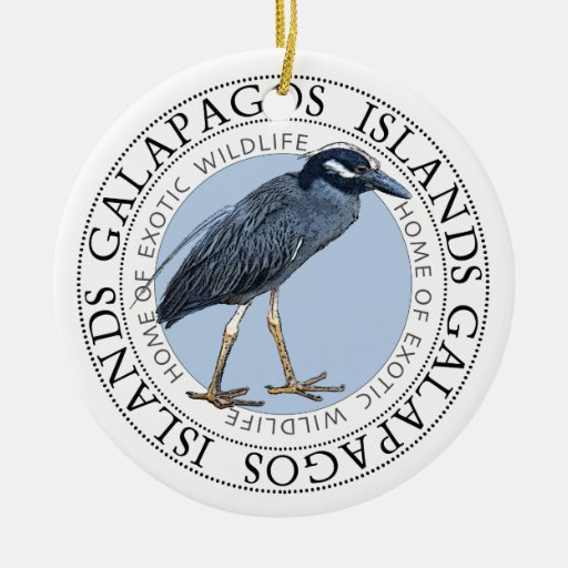 Night Heron Galapagos Islands Ornaments