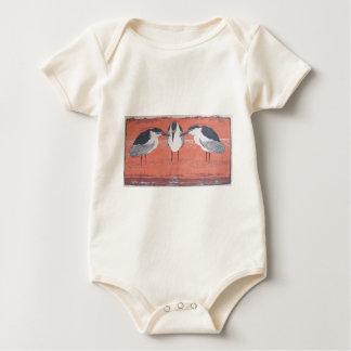 Night Herons by Otto Eckmann Baby Bodysuit