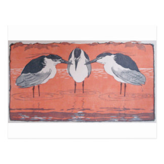 Night Herons by Otto Eckmann Postcard