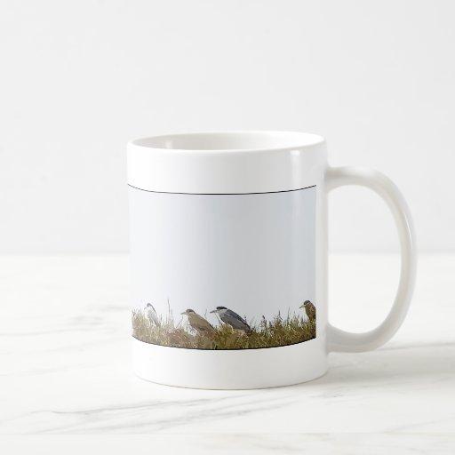 Night Herons Island Art Mug