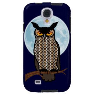 Night Horned Owl Blue Moon Galaxy S4 Case