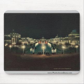 Night illumination Grand Court classic Photochrom Mouse Pad