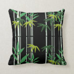Night in a Bamboo Forest Throw Pillow