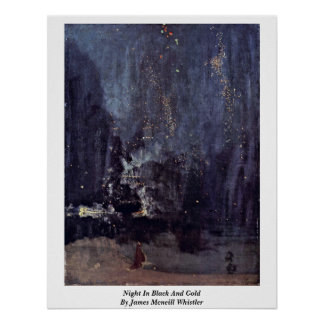 Night In Black And Gold By James Mcneill Whistler Print