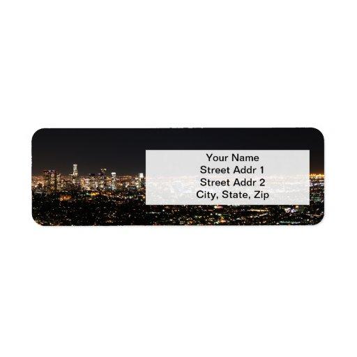 Night in Los Angeles Return Address Label