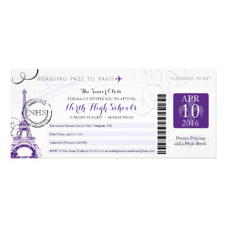 Night in Paris School Prom Personalized Invitation
