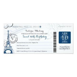 Night in Paris | Sweet 16 Birthday Card