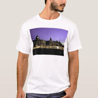 Night in Paris Watercolor T-Shirt