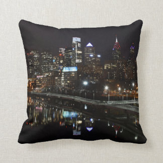 Night in Philly Throw Pillow