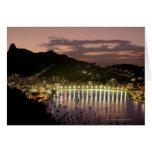 Night in Rio de Janeiro, Brazil Greeting Card