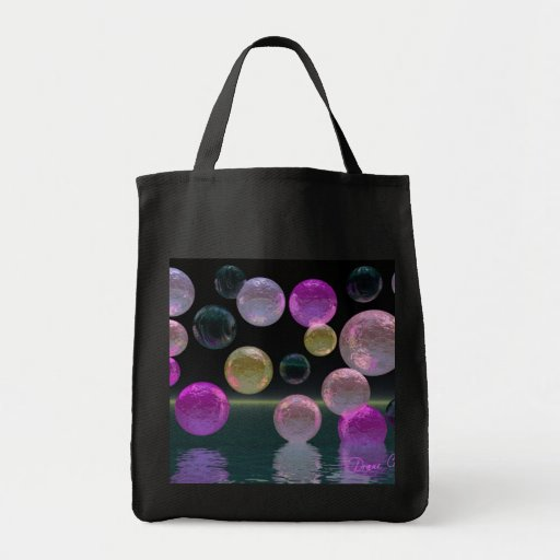 Night Jewels – Magenta and Black Brilliance Canvas Bag