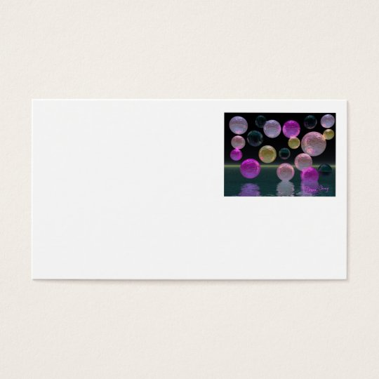 Night Jewels – Magenta and Black Brilliance Business Card