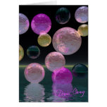 Night Jewels – Magenta and Black Brilliance Greeting Cards