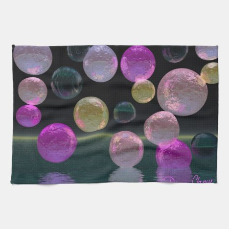 Night Jewels – Magenta and Black Brilliance Kitchen Towel