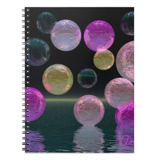 Night Jewels – Magenta and Black Brilliance Notebook
