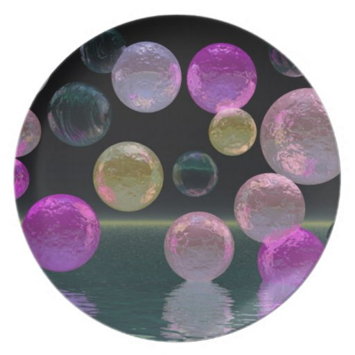 Night Jewels – Magenta and Black Brilliance Party Plates