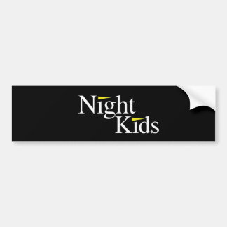 Night Kids Black Bumper Sticker