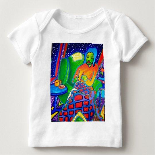 Night Knitting by Piliero Baby T-Shirt