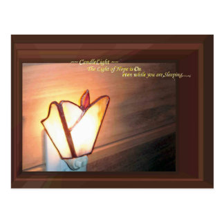 Night Lamp Candlelight HOPE for JAPAN Photograph Postcard