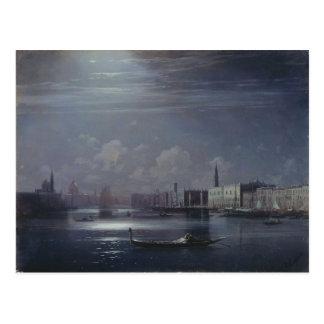Night landscape. Venice by Ivan Aivazovsky Postcard
