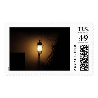 Night Lantern Street Lamp  Postal Stamp