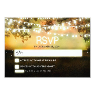 night lanterns romantic colorful wedding rsvp card